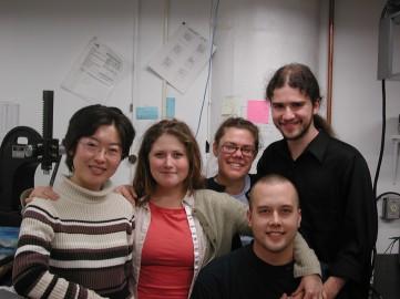 Top from left to right: Dongmei Zhang, Mandi Reinshagen, Beth Lavoie and Chris Collins. Bottom: Mark Schaffer.