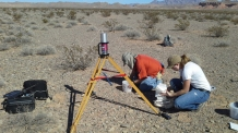 Rick and Candace collecting soil samples in Government Wash.