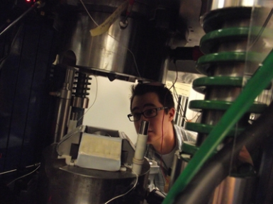 Christopher Cline seen through the D-DIA the Brookhaven National Laboratory, National Synchrotron Light Source.